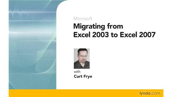 Goodbye: Migrating from Excel 2003 to Excel 2007