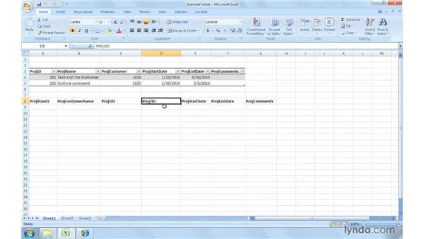 Collecting the appropriate data: Excel 2007: Creating and Managing Invoices