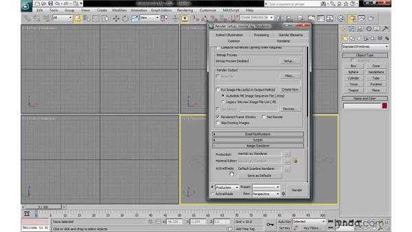 Assigning the mental ray renderer: 3ds Max 2010: Lighting and Rendering with mental ray