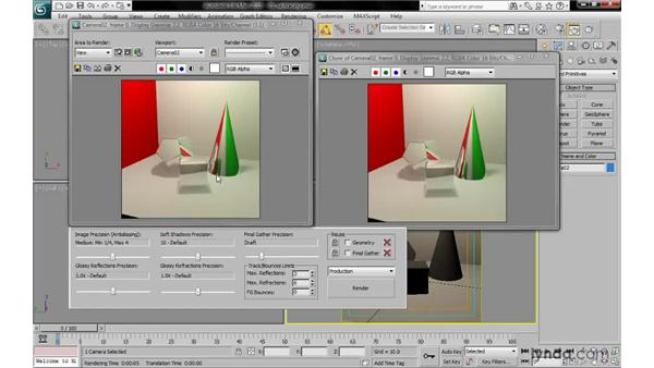 Limiting the trace depth of reflections and refractions: 3ds Max 2010: Lighting and Rendering with mental ray