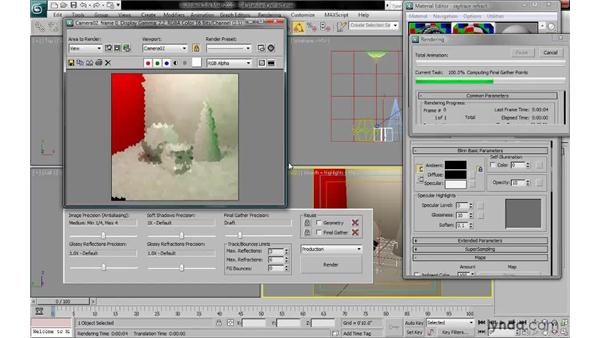 Applying a raytrace refraction map to a standard material: 3ds Max 2010: Lighting and Rendering with mental ray