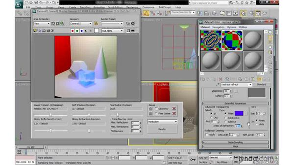 Setting the index of refraction: 3ds Max 2010: Lighting and Rendering with mental ray