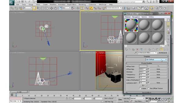 Using architectural materials for raytraced reflections: 3ds Max 2010: Lighting and Rendering with mental ray