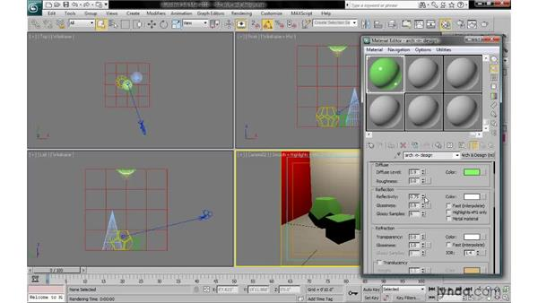 Getting familiar with the Arch & Design material: 3ds Max 2010: Lighting and Rendering with mental ray
