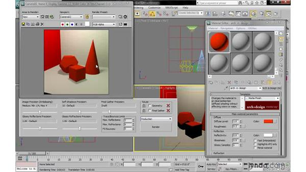 Working with diffuse color and diffuse level: 3ds Max 2010: Lighting and Rendering with mental ray