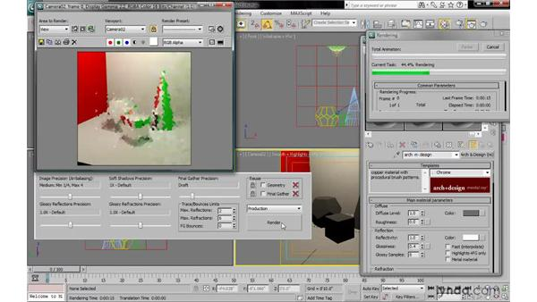 Setting reflectivity and glossiness: 3ds Max 2010: Lighting and Rendering with mental ray