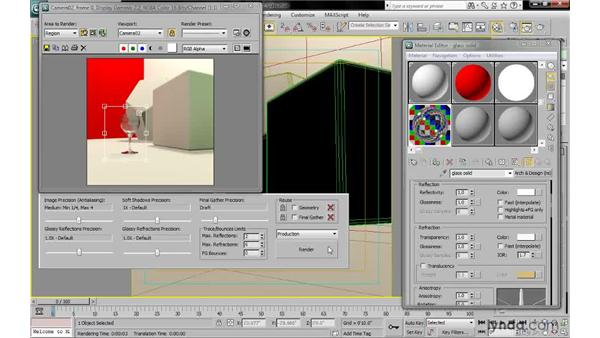 Rendering solid glass: 3ds Max 2010: Lighting and Rendering with mental ray
