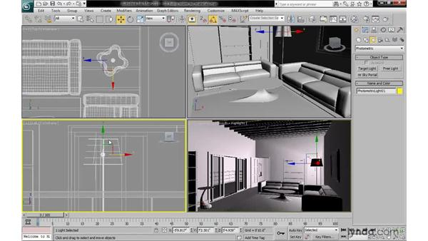 Using free lights: 3ds Max 2010: Lighting and Rendering with mental ray