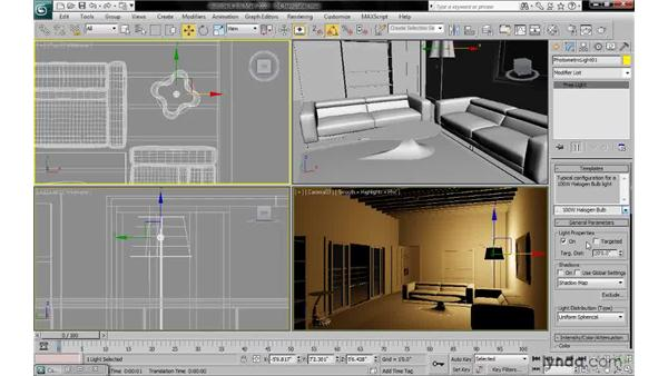 Selecting photometric templates: 3ds Max 2010: Lighting and Rendering with mental ray