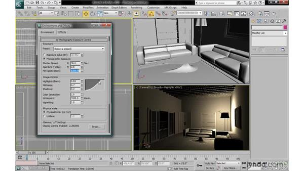 Adjusting contrast with exposure image control: 3ds Max 2010: Lighting and Rendering with mental ray