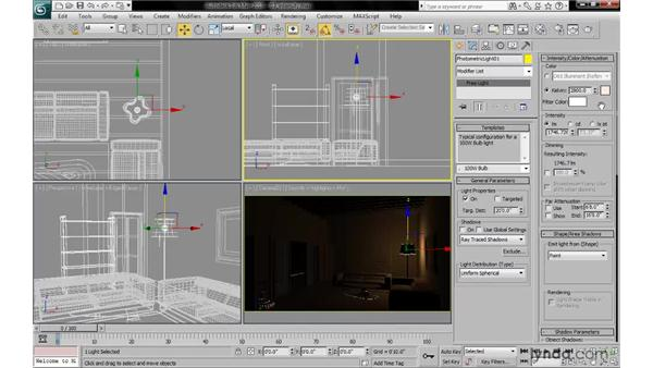 Setting light intensity: 3ds Max 2010: Lighting and Rendering with mental ray