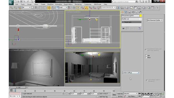 Using target lights: 3ds Max 2010: Lighting and Rendering with mental ray