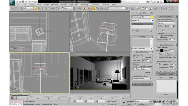 Understanding the pros and cons of shadow types: 3ds Max 2010: Lighting and Rendering with mental ray