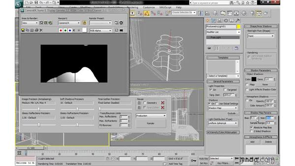 Rendering shadow map shadows: 3ds Max 2010: Lighting and Rendering with mental ray