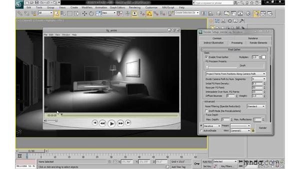Optimizing final gather for animations: 3ds Max 2010: Lighting and Rendering with mental ray