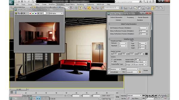 Controlling render quality with samples per pixel: 3ds Max 2010: Lighting and Rendering with mental ray