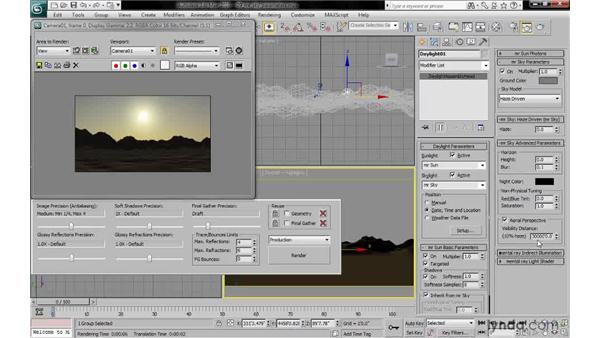 Working with mr sky advanced parameters: 3ds Max 2010: Lighting and Rendering with mental ray