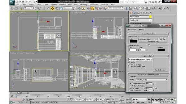 Understanding the pros and cons of environment mapping: 3ds Max 2010: Lighting and Rendering with mental ray