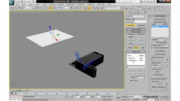 Applying a LookAt constraint to the image plane: 3ds Max 2010: Lighting and Rendering with mental ray