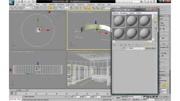 Modeling cylindrical panorama backgrounds: 3ds Max 2010: Lighting and Rendering with mental ray