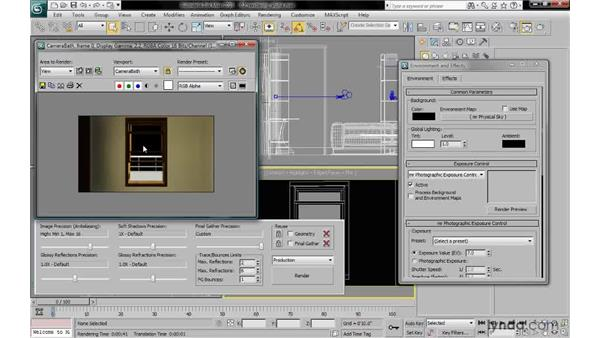 Rendering still images for After Effects or Photoshop: 3ds Max 2010: Lighting and Rendering with mental ray