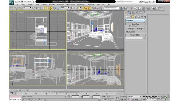 Creating a standard omni light at the origin: 3ds Max 2010: Lighting and Rendering with mental ray
