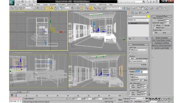 Setting intensity and enabling ambient only: 3ds Max 2010: Lighting and Rendering with mental ray