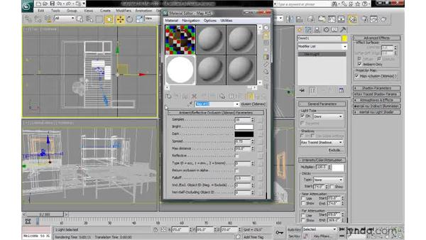 Creating an ambient/reflective occlusion map: 3ds Max 2010: Lighting and Rendering with mental ray
