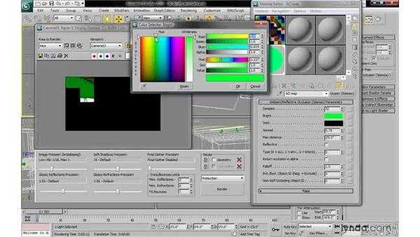 Setting bright and dark: 3ds Max 2010: Lighting and Rendering with mental ray