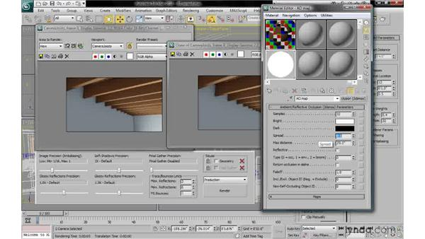 Understanding spread: 3ds Max 2010: Lighting and Rendering with mental ray