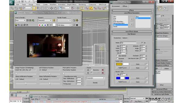 Adding a star element: 3ds Max 2010: Lighting and Rendering with mental ray