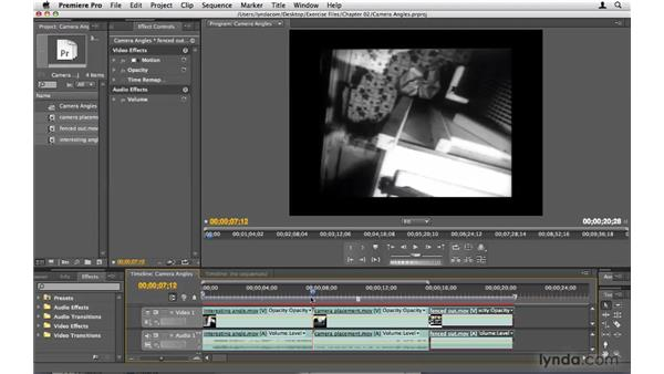 Telling a story with camera angles: Premiere Pro CS4 Beyond the Basics