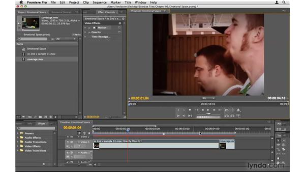 """Allowing """"emotional space"""": Premiere Pro CS4 Beyond the Basics"""