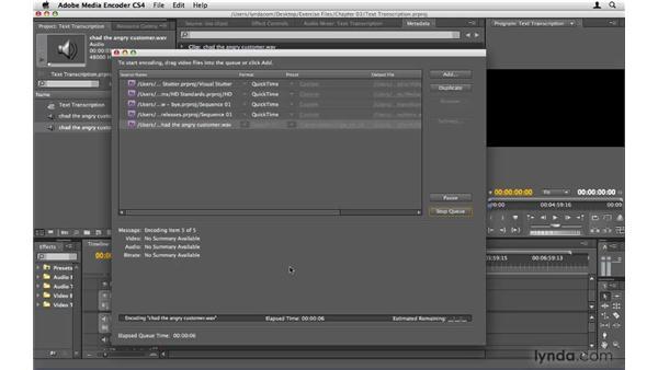 Creating metadata with Speech Search: Premiere Pro CS4 Beyond the Basics