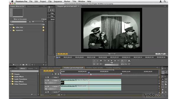 When to cut: Premiere Pro CS4 Beyond the Basics