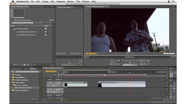 Matching action: Premiere Pro CS4 Beyond the Basics