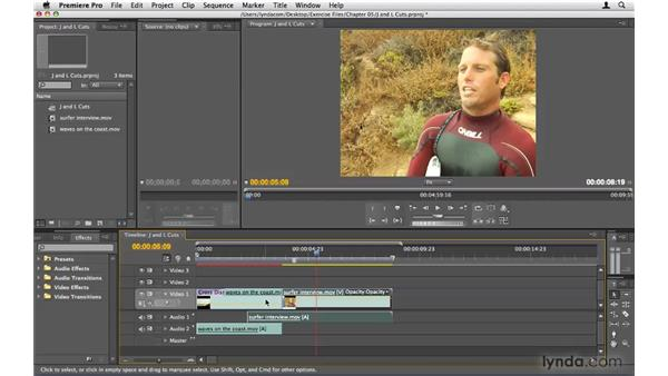 Creating J and L cuts: Premiere Pro CS4 Beyond the Basics