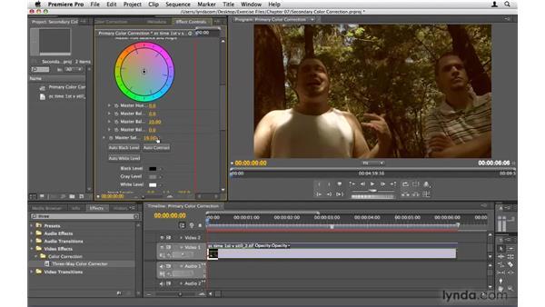 Secondary color correction: Premiere Pro CS4 Beyond the Basics