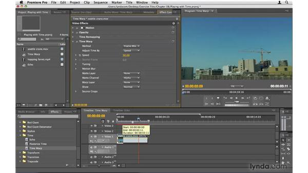 Playing with time: Premiere Pro CS4 Beyond the Basics