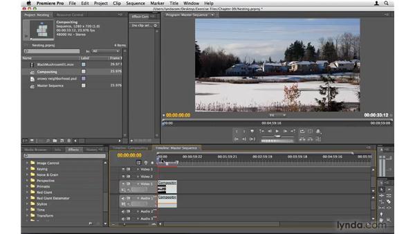 Nesting sequences: Premiere Pro CS4 Beyond the Basics