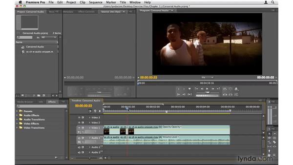 Censoring audio using bleeps: Premiere Pro CS4 Beyond the Basics