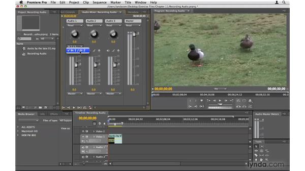Recording audio: Premiere Pro CS4 Beyond the Basics