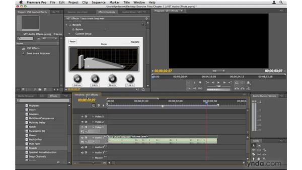 Working with VST plug-in effects: Premiere Pro CS4 Beyond the Basics