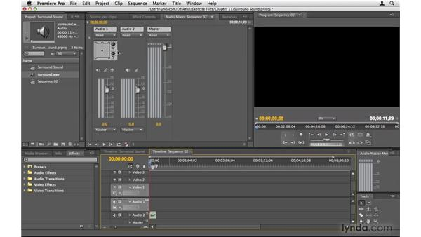 Working with surround sound: Premiere Pro CS4 Beyond the Basics