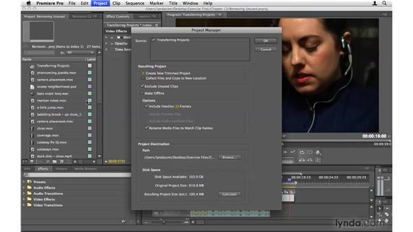 Removing unused footage: Premiere Pro CS4 Beyond the Basics