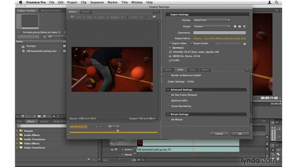 Choosing a format: Premiere Pro CS4 Beyond the Basics