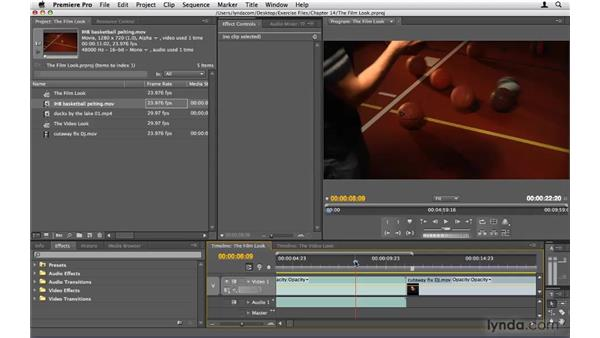 Getting the film look: Premiere Pro CS4 Beyond the Basics
