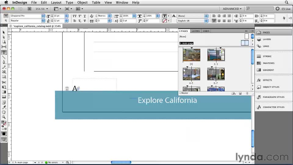 how to show page numbering in indesign