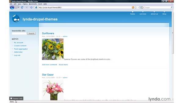 Installing the Theme Developer module (aka Devel): Drupal 6: Creating and Editing Custom Themes