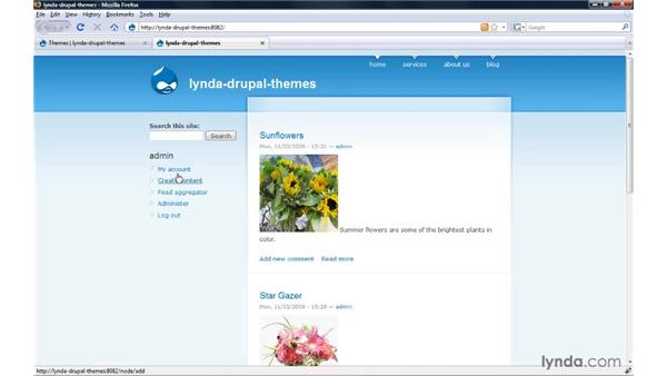 Touring the core themes: Drupal 6: Creating and Editing Custom Themes